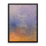 Laughter comes from living. Shatter Me Quote Art Print