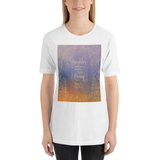 Laughter comes from living. Shatter Me Quote Unisex Short Sleeved Shirt - LitLifeCo.