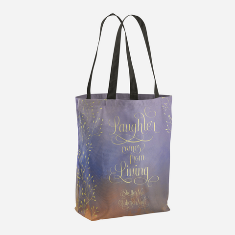 Laughter comes from living. Shatter Me Quote Tote Bag