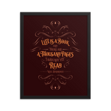 Life is a book and there are a thousand pages I have not yet read. Will Herondale Quote Art Print - LitLifeCo.