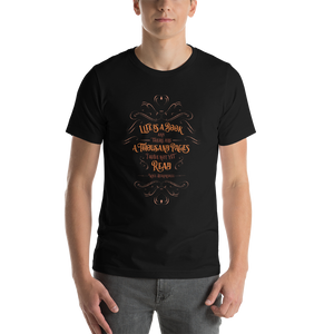 Life is a book... Will Herondale Quote Unisex Short Sleeved Shirt - LitLifeCo.