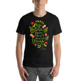 Life is worth living as long as there's a laugh in it. Anne of Green Gables Quote Unisex Short Sleeved Shirt