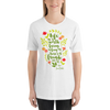Life is worth living as long as there's a laugh in it. Anne of Green Gables Quote Unisex Short Sleeved Shirt - LitLifeCo.