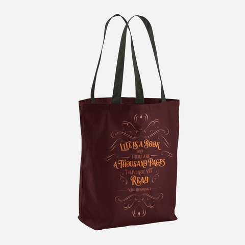 Life is a book... Will Herondale Quote Tote Bag - LitLifeCo.