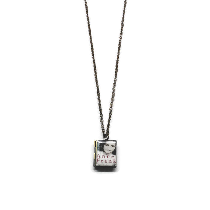 The Diary of Anne Frank Book Necklace - LitLifeCo.