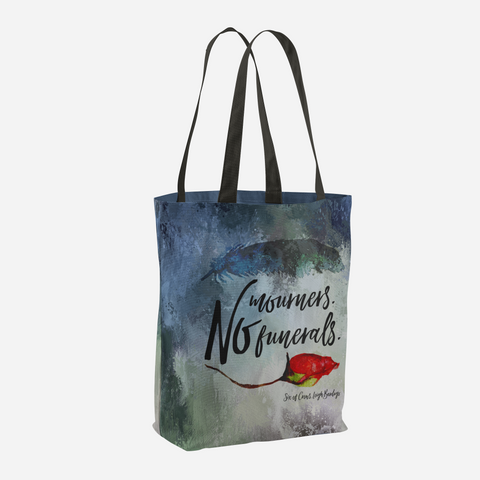 No mourners. No funerals. Six of Crows Quote Tote Bag - LitLifeCo.