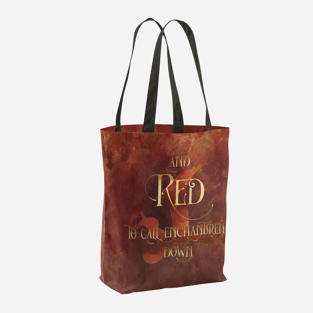 And RED to call enchantment down. Shadowhunter Children's Rhyme Quote Tote Bag - LitLifeCo.