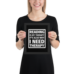Reading is My Therapy Art Print - LitLifeCo.