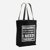 Reading is My Therapy Tote Bag - LitLifeCo.