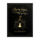 Remember, it's only a game. Caraval Art Print