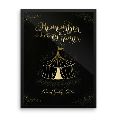 Remember, it's only a game. Caraval Art Print - LitLifeCo.