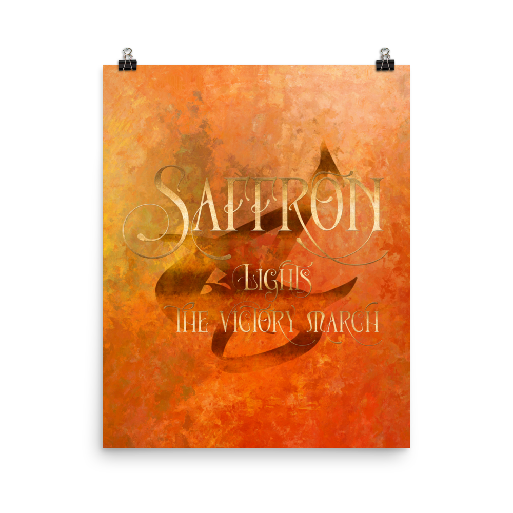 SAFFRON lights the victory march. Shadowhunter Children's Rhyme Quote Art Print - LitLifeCo.