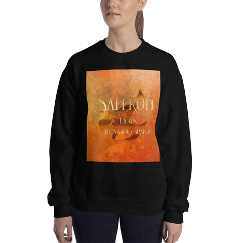 SAFFRON lights the victory march. Shadowhunter Children's Rhyme Quote Unisex Sweatshirt - LitLifeCo.