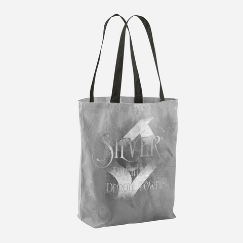 SILVER for the demon towers. Shadowhunter Children's Rhyme Quote Tote Bag - LitLifeCo.