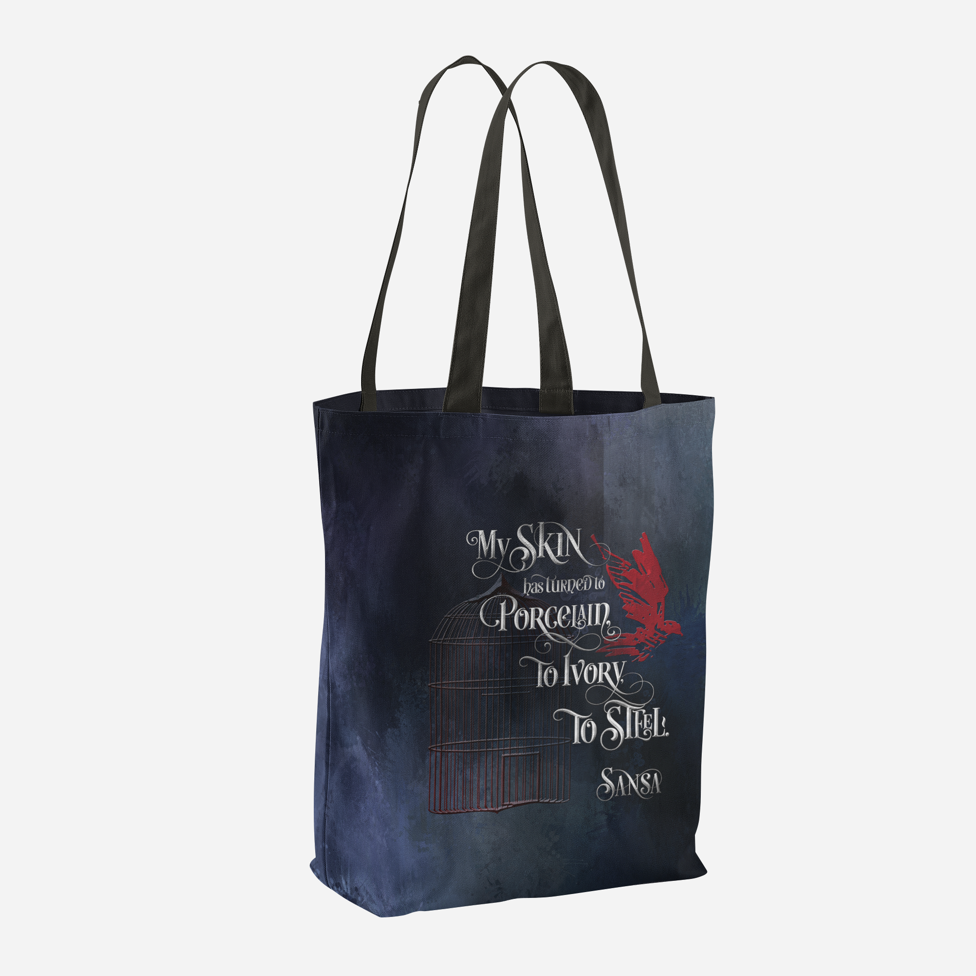 My skin has turned to porcelain... Sansa. Game of Thrones (A Song of Ice and Fire) Quote Tote Bag - LitLifeCo.