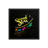Second star to the right and straight on 'til morning. Peter Pan Lit Art Print - LitLifeCo.