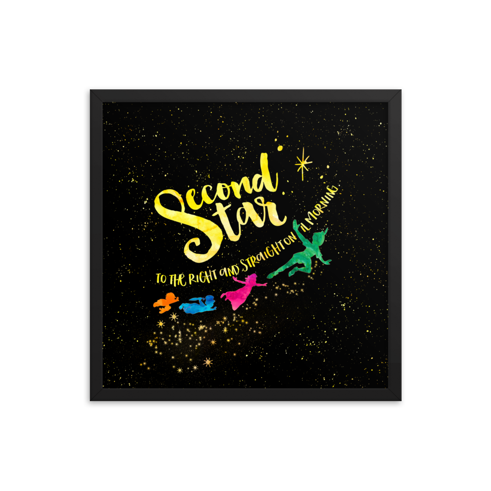 Second star to the right... Peter Pan Art Print - LitLifeCo.