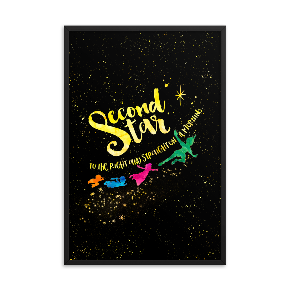 Second star to the right... Peter Pan Art Print - Literary Lifestyle Company