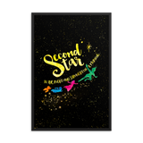 Second star to the right and straight on 'til morning. Peter Pan Lit Art Print