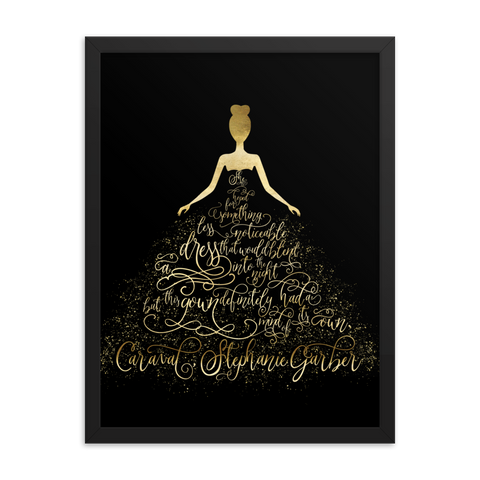 Scarlett's Enchanted Dress Caraval Art Print - LitLifeCo.
