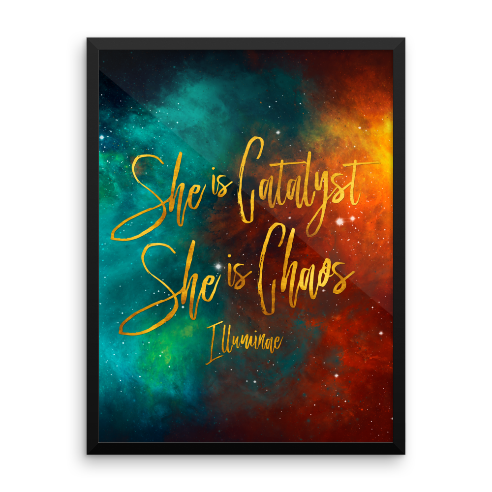 She is catalyst... Illuminae Quote Art Print - LitLifeCo.