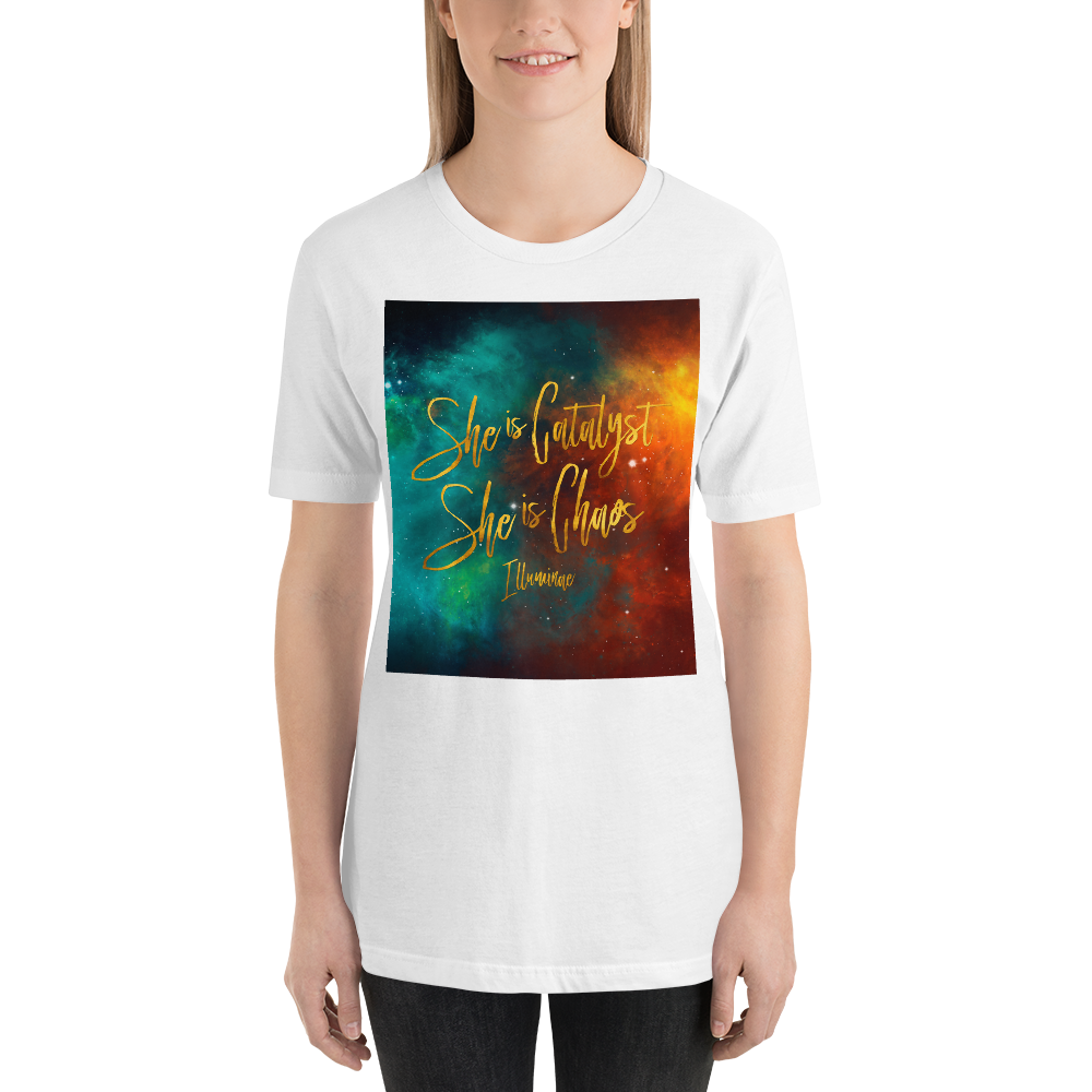 She is catalyst... Illuminae Quote Unisex Short Sleeved Shirt - LitLifeCo.