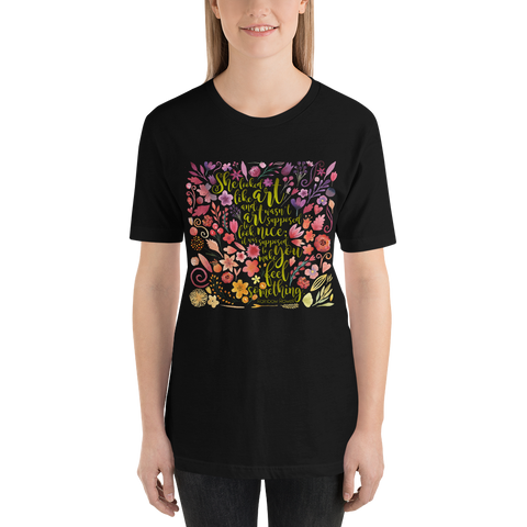 She looked like art... Eleanor and Park Quote Unisex Short Sleeved Shirt - LitLifeCo.
