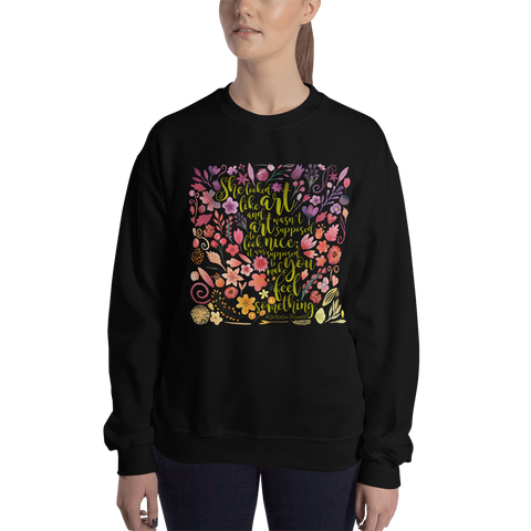 She looked like art... Eleanor and Park Quote Unisex Sweatshirt