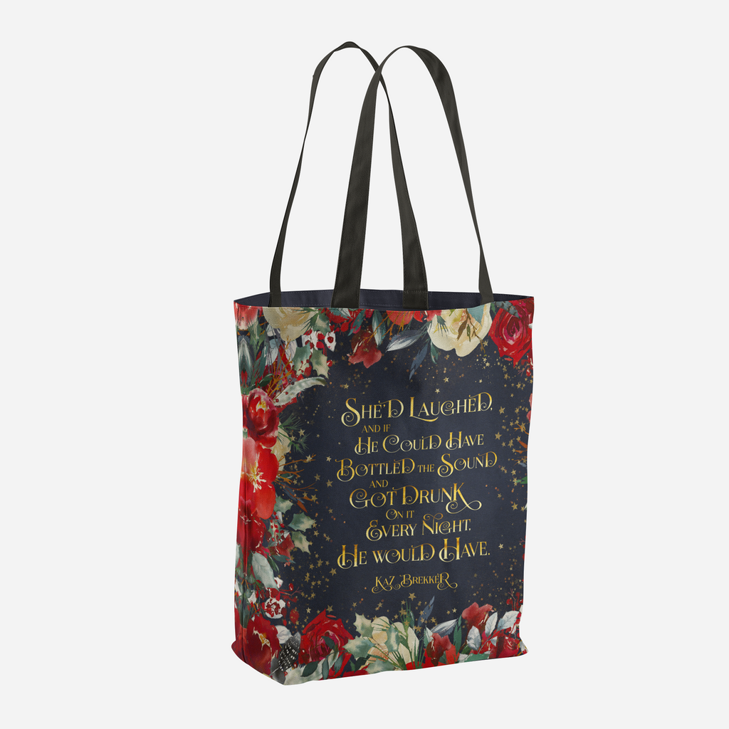 She'd laughed... Kaz Brekker Quote Tote Bag - LitLifeCo.