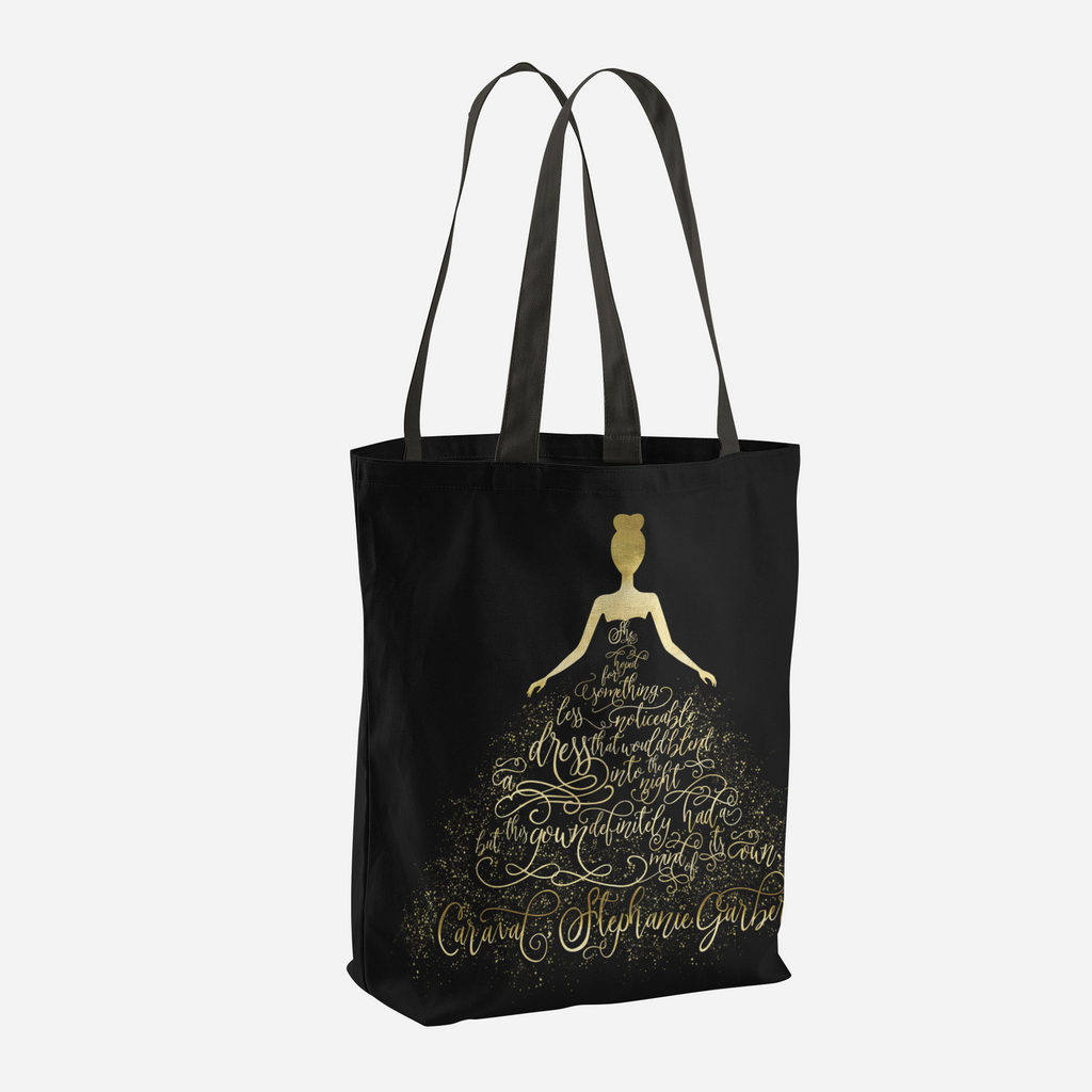 Scarlett's Enchanted Dress. Caraval Quote Tote Bag