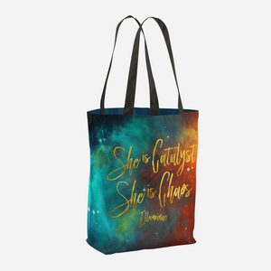 She is catalyst... Illuminae Quote Tote Bag - LitLifeCo.