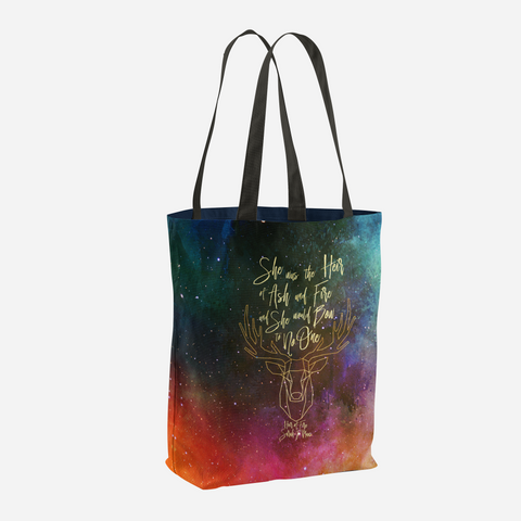 She was the heir of ash and fire... Heir of Fire (Throne of Glass Series) Quote Tote Bag