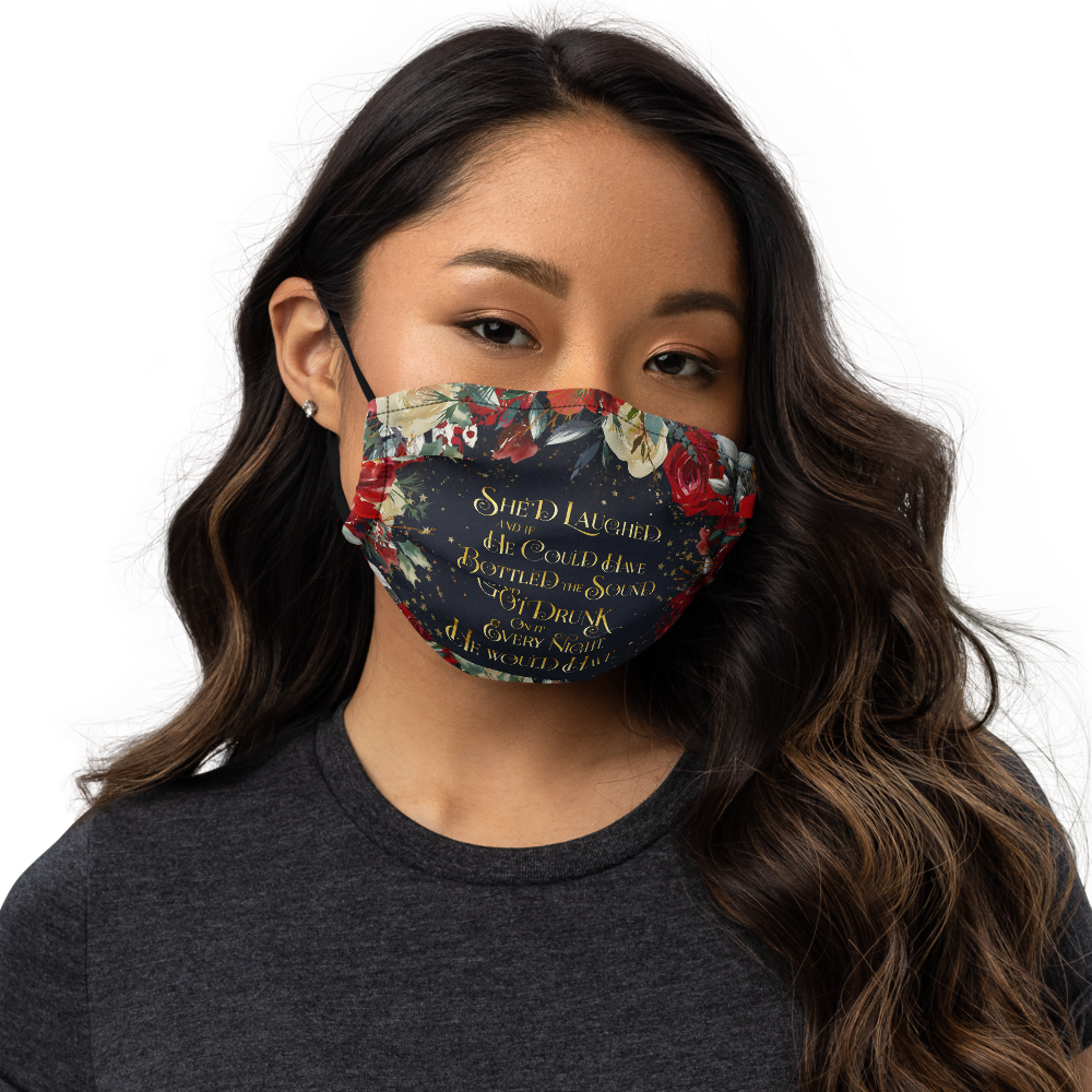 She'd laughed... Kaz Brekker Premium Face Mask