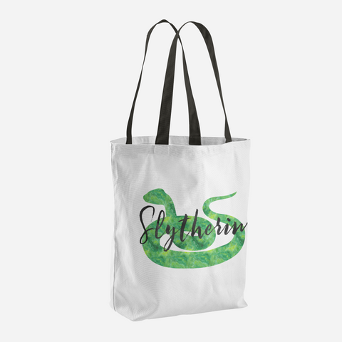 Slytherin Hogwarts House Pride Tote Bag