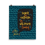 Sugar and caffeine... Percy Jackson Quote Art Print - LitLifeCo.