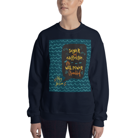 Sugar and caffeine... Percy Jackson Quote Unisex Sweatshirt