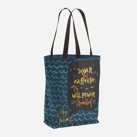 Sugar and caffeine... Percy Jackson Quote Tote Bag