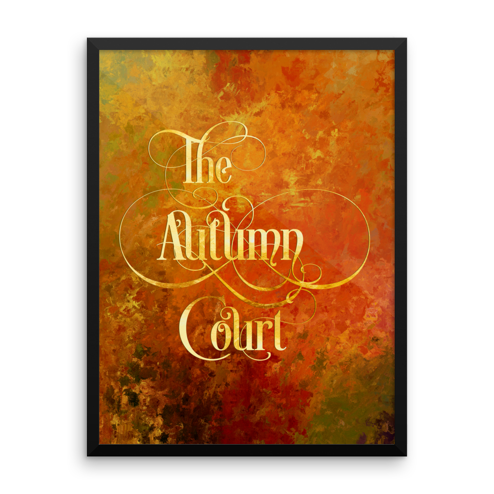 The Autumn Court Art Print - LitLifeCo.