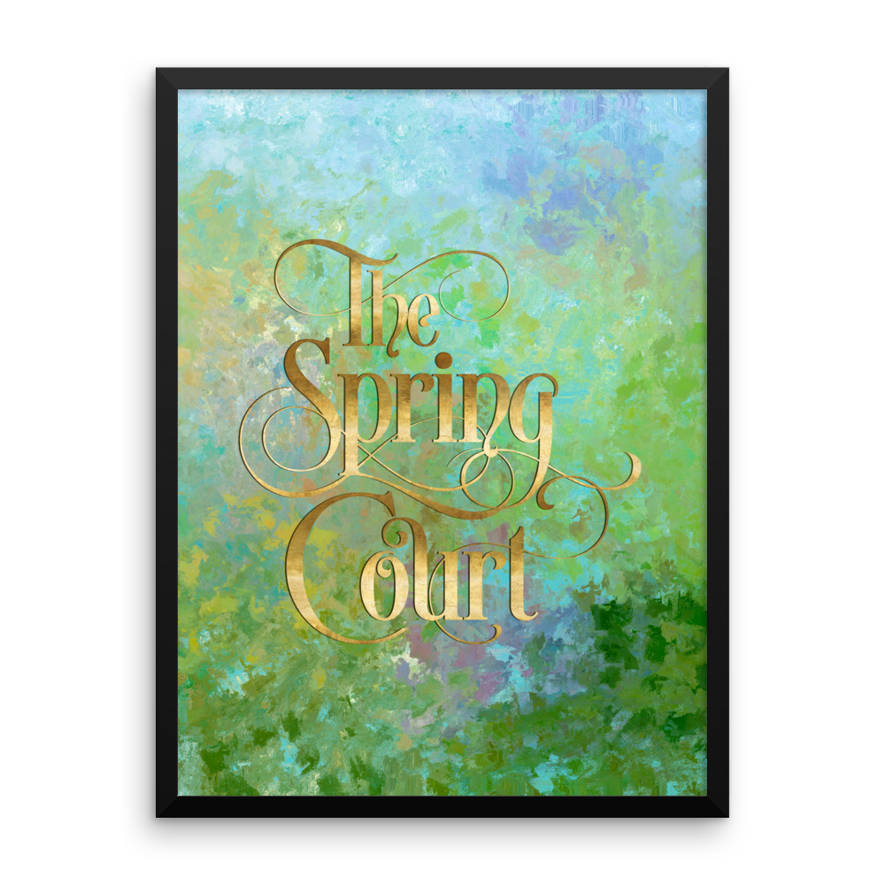 The Spring Court Art Print - LitLifeCo.