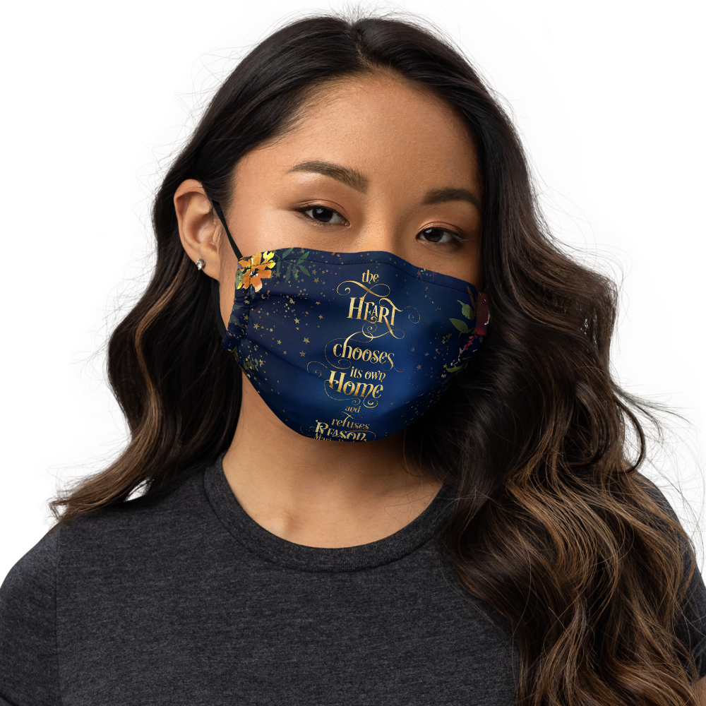 The heart chooses... The Winner's Crime Premium Face Mask