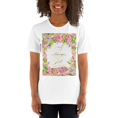 The story that I love you... Rosemary Herondale. Queen of Air and Darkness Quote Unisex Short Sleeved Shirt