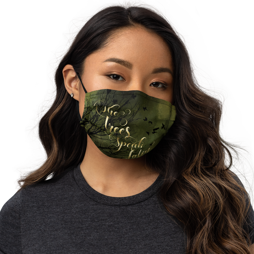 The trees speak Latin. The Raven Boys Premium Face Mask