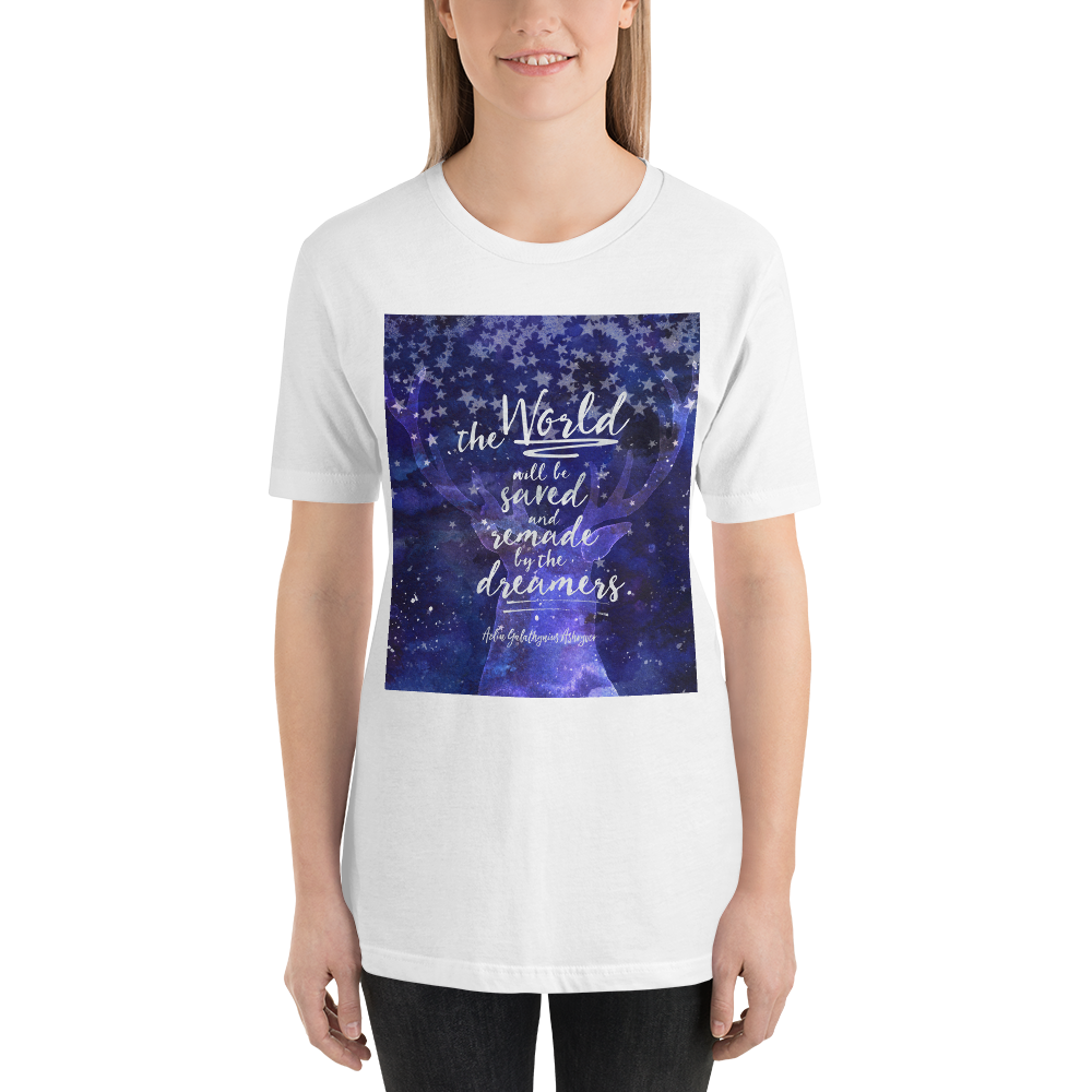 The world will be saved... Throne of Glass Quote Unisex Short Sleeved Shirt