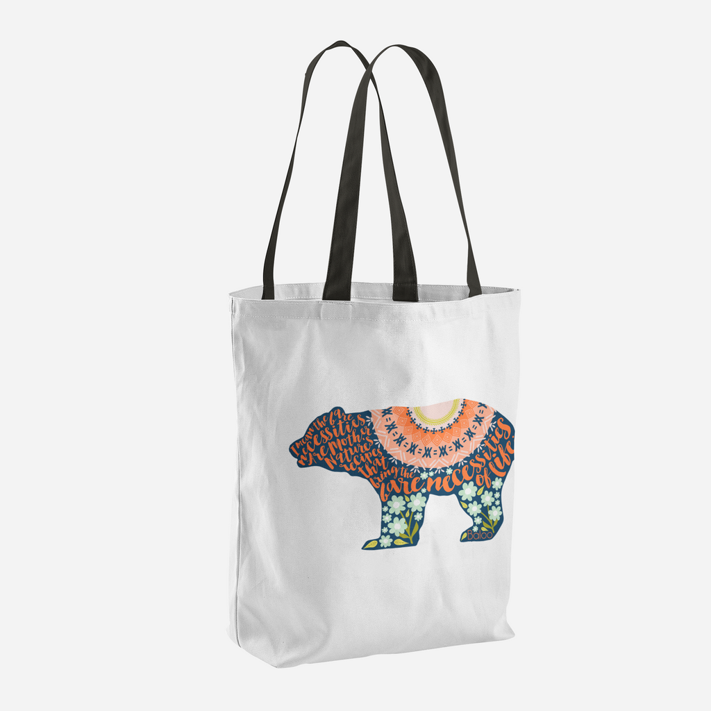 The Bear Necessities Jungle Book Quote Tote Bag - LitLifeCo.