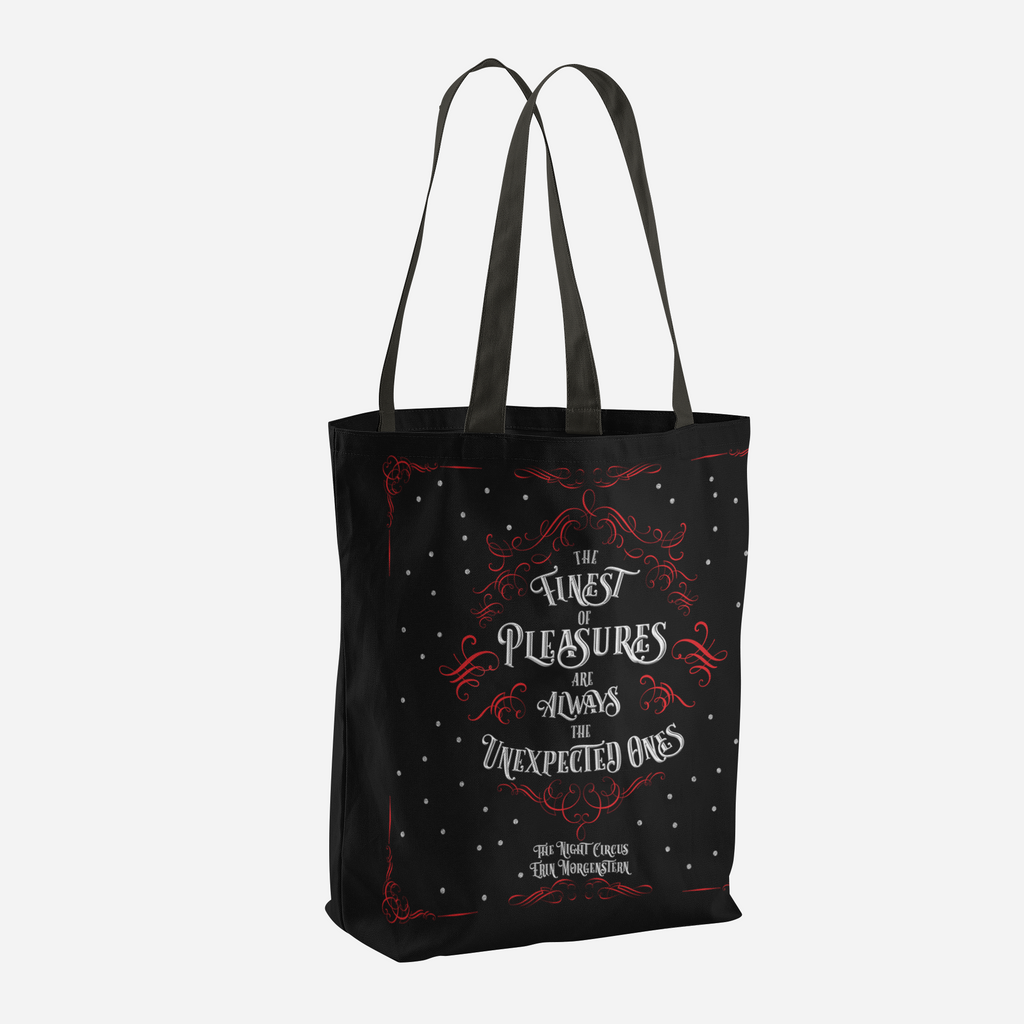 The finest of pleasures... The Night Circus Quote Tote Bag - LitLifeCo.