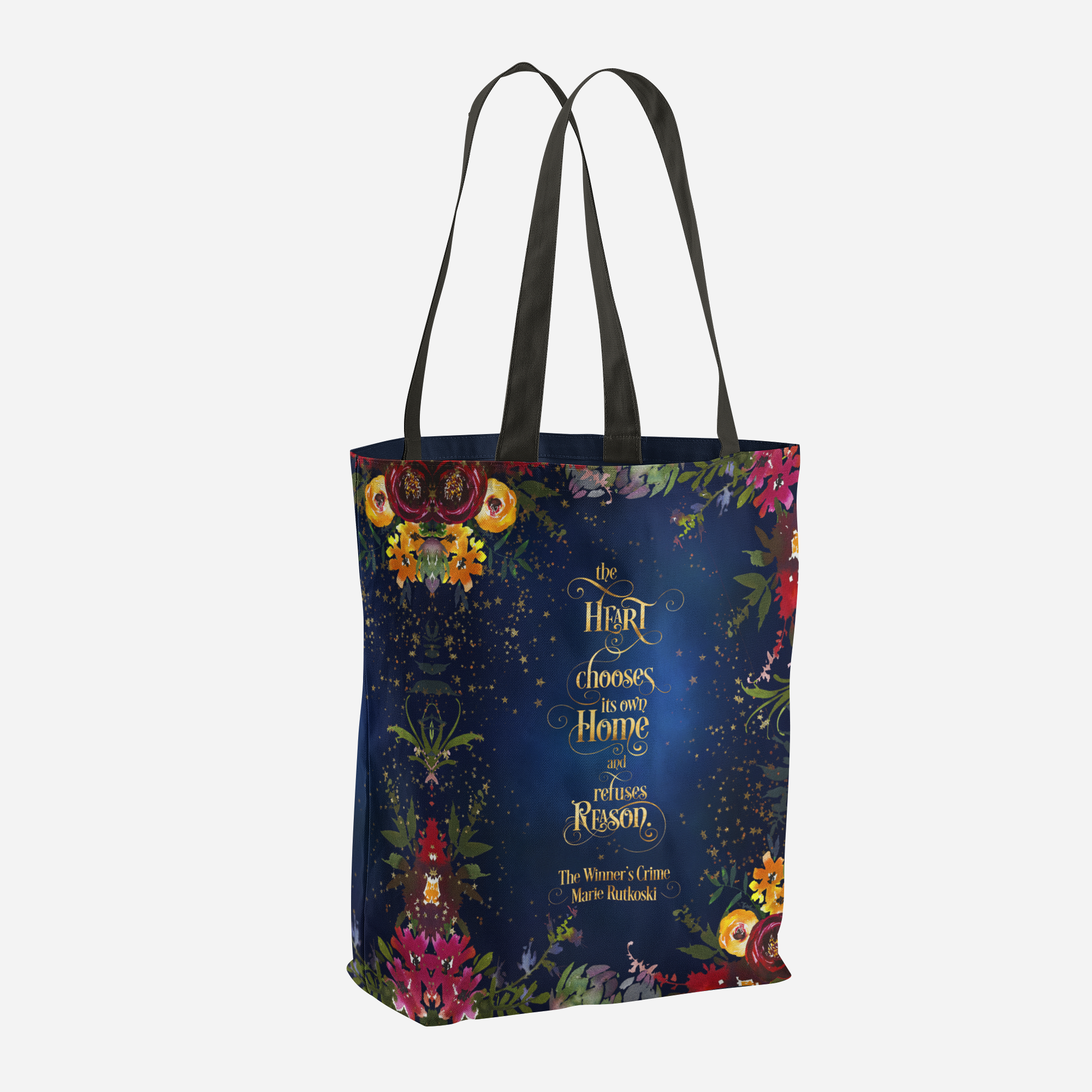 The heart chooses its own home... The Winner's Crime Quote Tote Bag - LitLifeCo.