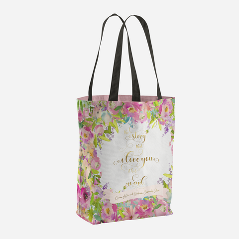 The story that I love you... Rosemary Herondale. Queen of Air and Shadows Quote Tote Bag - LitLifeCo.