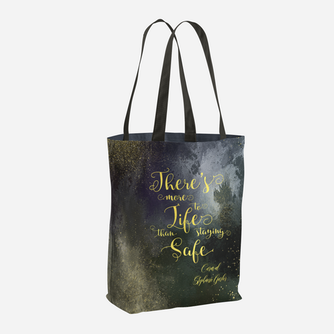 There's more to life than staying safe. Caraval Quote Tote Bag - LitLifeCo.