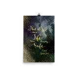 There's more to life than staying safe. Caraval Quote Art Print
