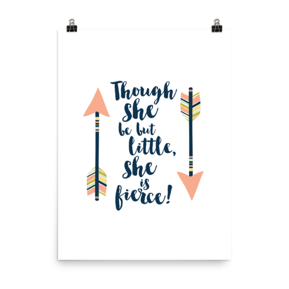 Though she be but little... A Midsummer Night's Dream Art Print - LitLifeCo.